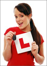learner driver with keys